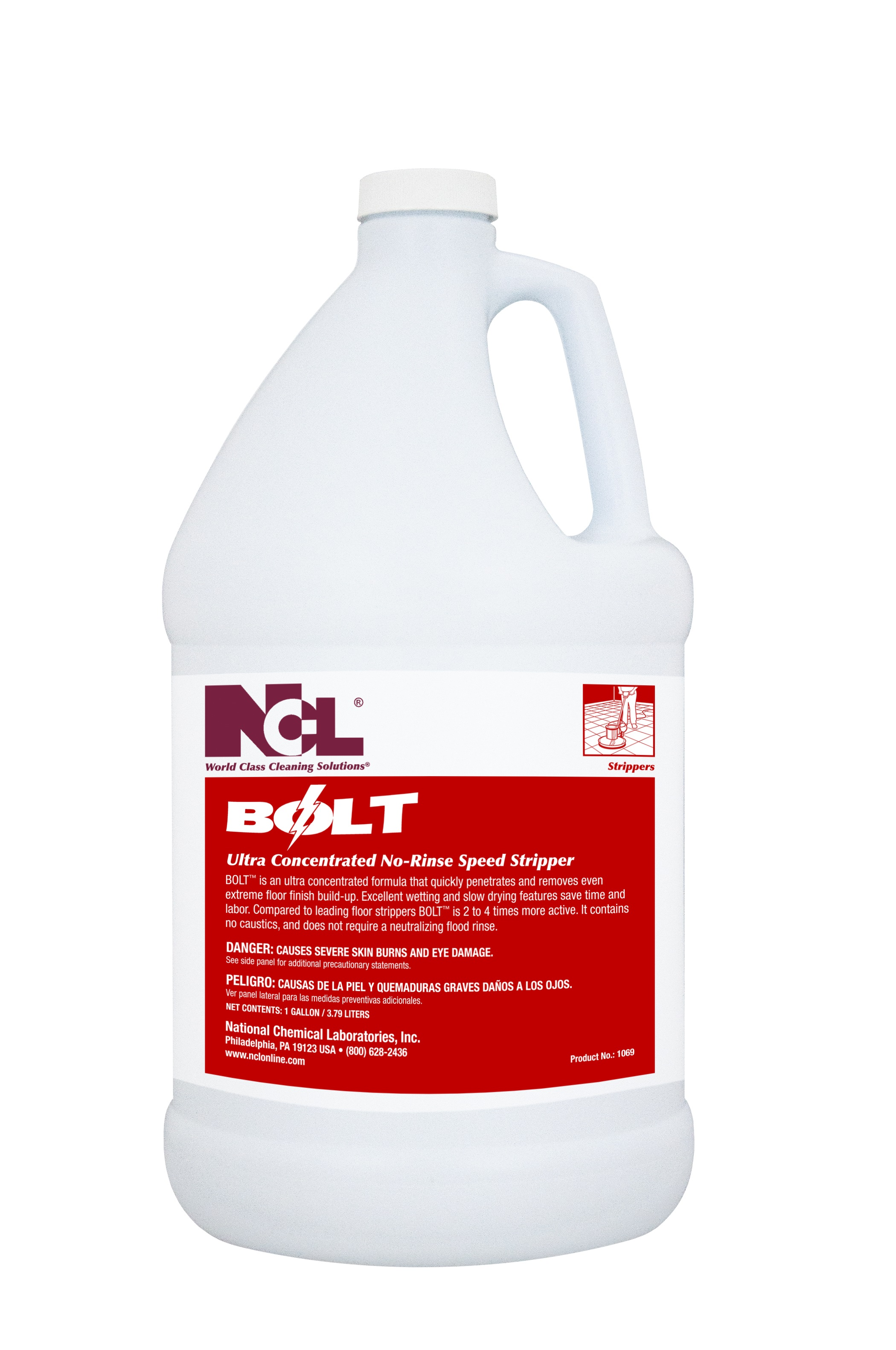 Ncl Bolt Ultra Concentrated No Rinse Stripper 12 Qt