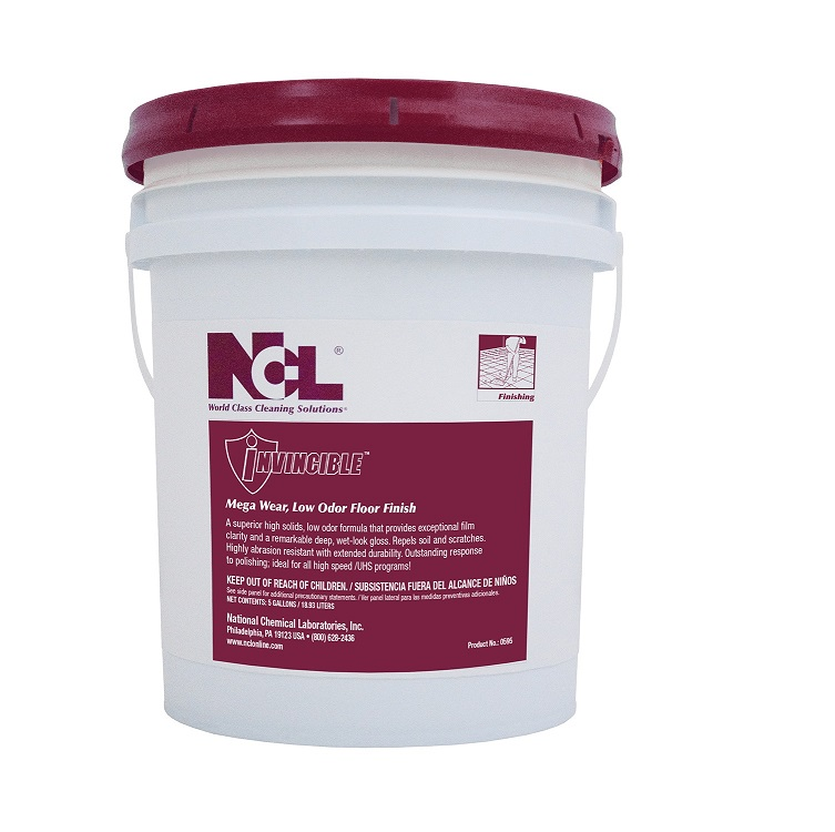 Ncl Invincible Mega Wear Low Odor Floor Finish 5gal