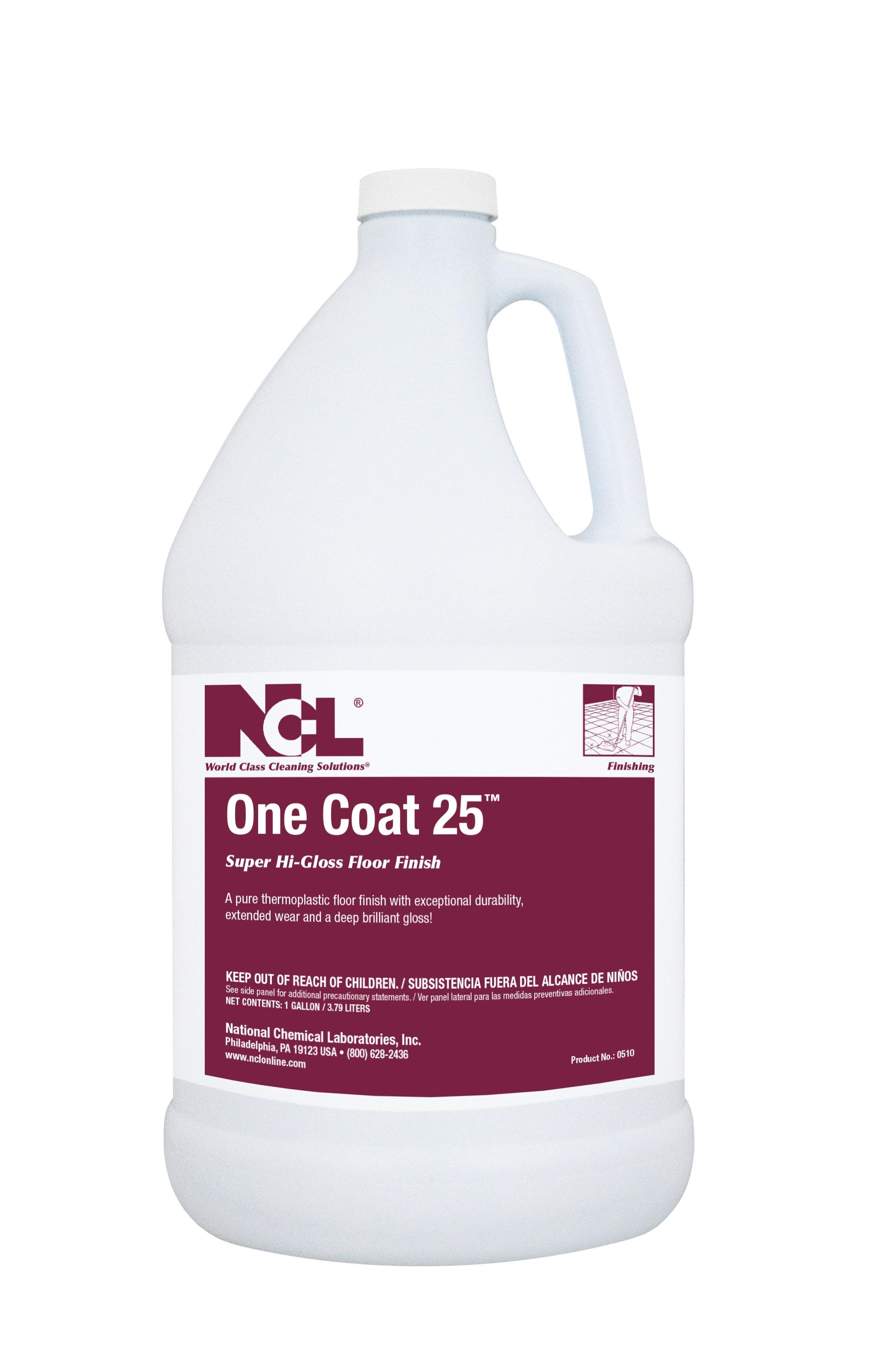 Ncl One Coat 25 Super High Gloss Floor Finish 5gal