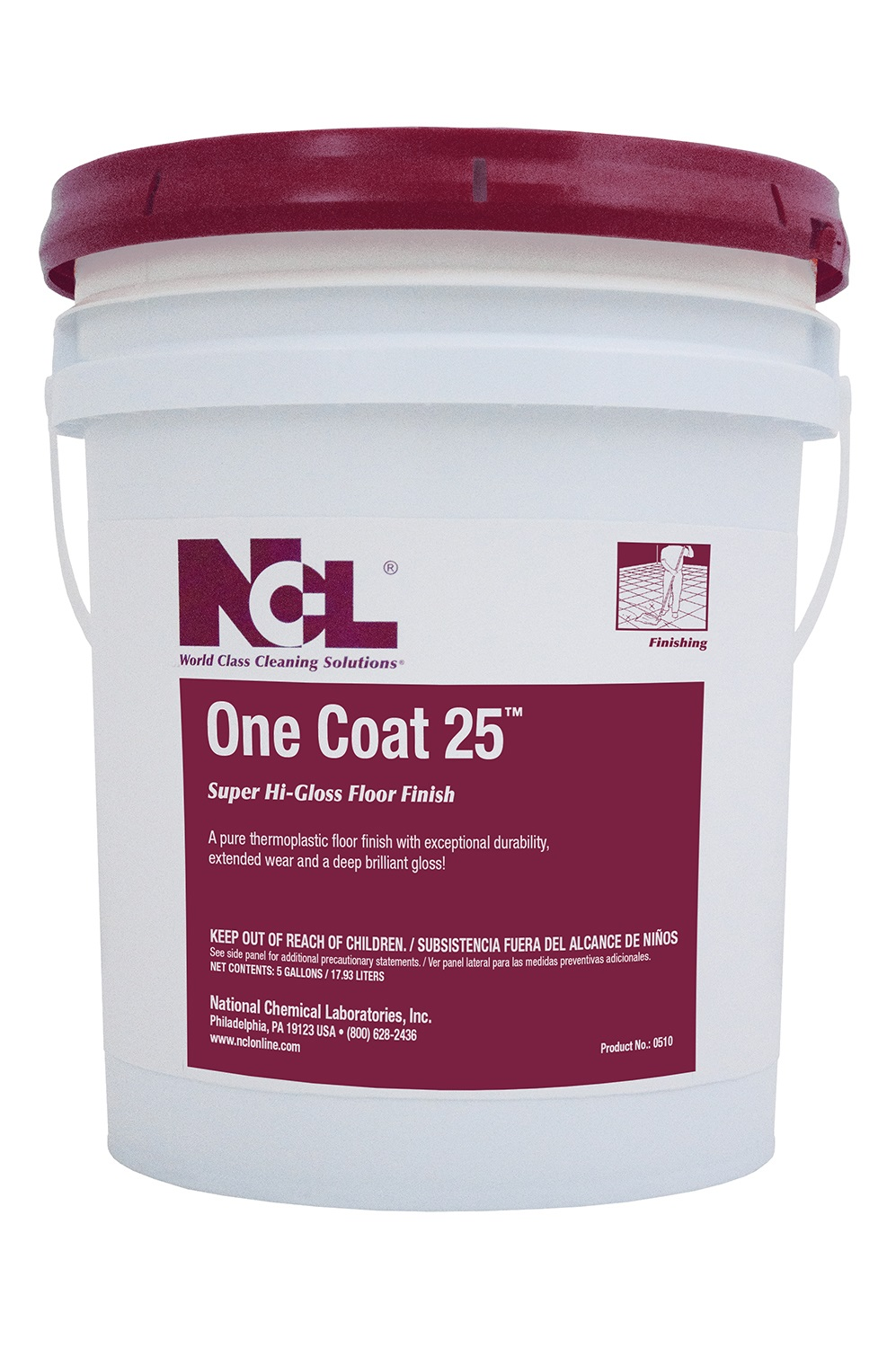Ncl One Coat 25 Super High Gloss Floor Finish 5gal